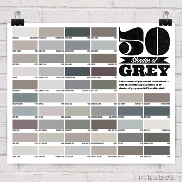 50 shades of grey plakat