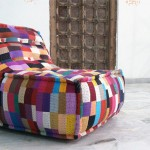 Patchwork lounge stol